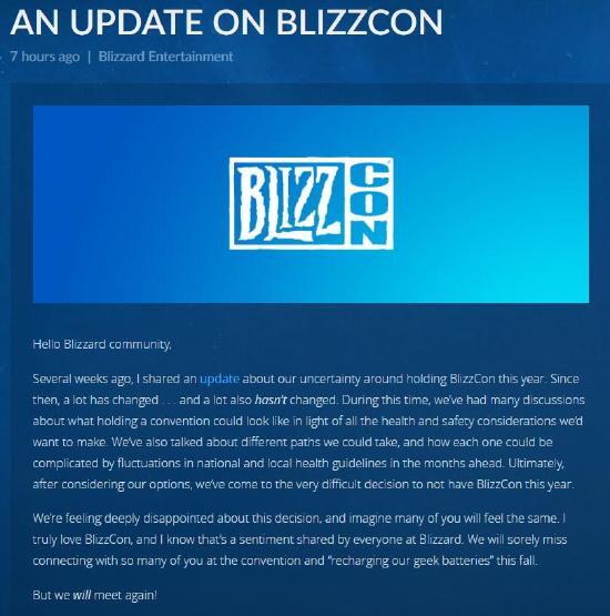 2020暴雪嘉年华取消,《暗黑4》《守望2》等最新消息或将线上公布
