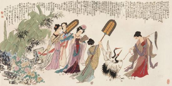 《画境长恨歌》鉴赏:千年之后,诗歌跃然在屏中,一曲长恨道不尽相思