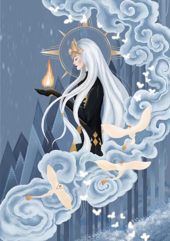 【高清壁纸】寂静神庙中的女神