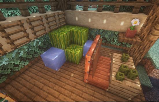 池塘小憩,来做一个简易的吃瓜小凉亭吧~