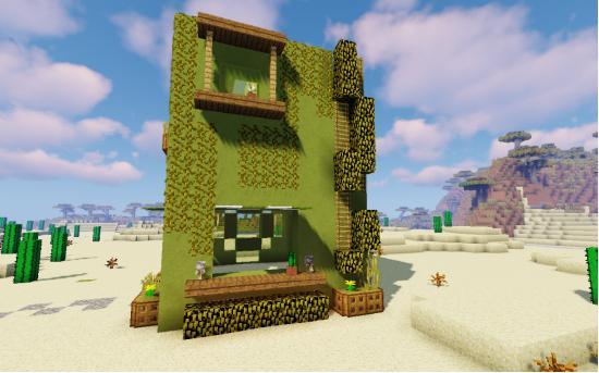 绿洲小屋,沙漠中独特的风景线~