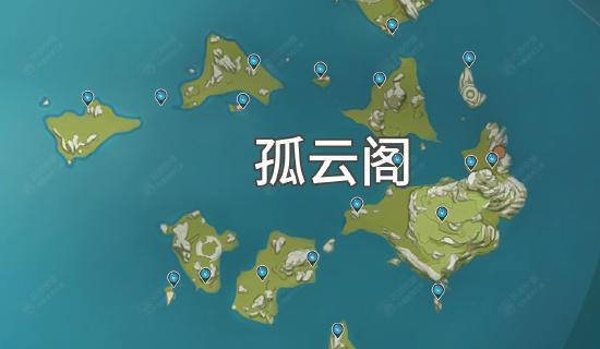【原神】陨星碎屑坐标分布