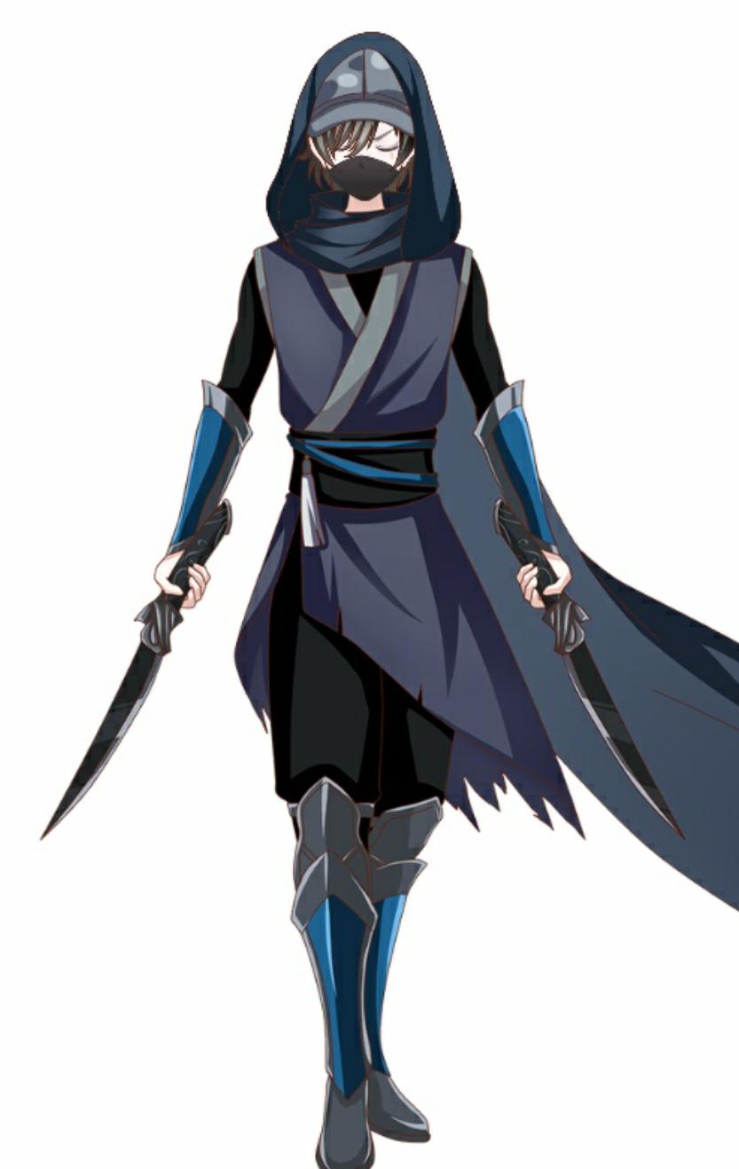 王牌战士:原创人物设计鬼影(游刃)