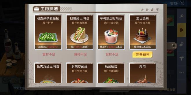 目前服务器能做的食谱【每日持续更新中】